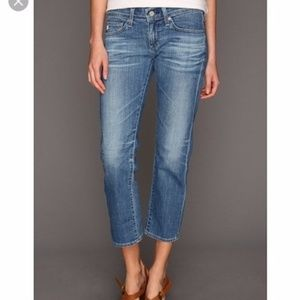 AG | The Tomboy Crop Relaxed Straight Crop Jeans